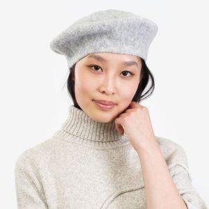 Lauren Manoogian Super Soft Alpaca Grey Beret Hat